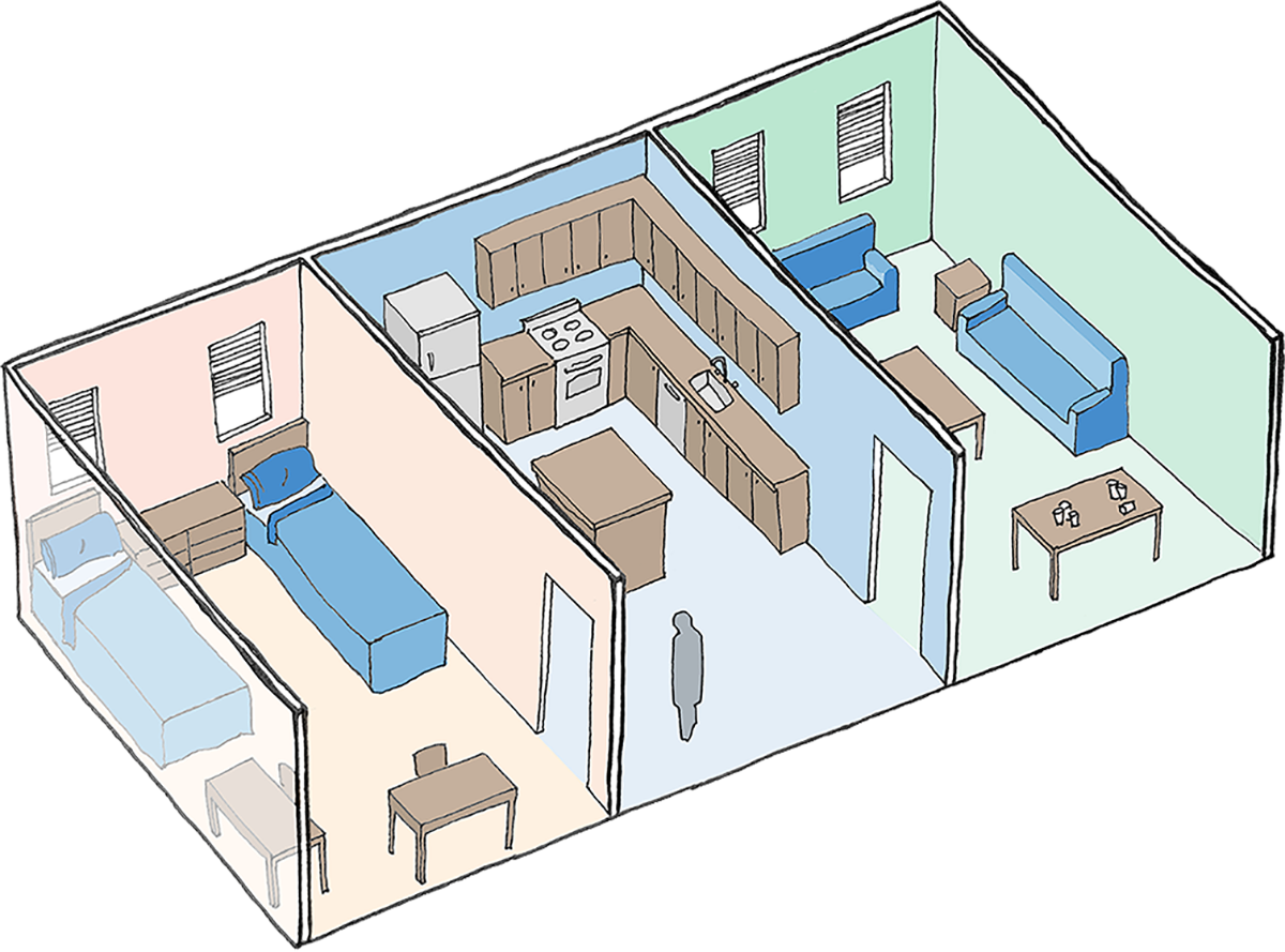 Illustration of living space